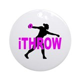 Discus thrower Round Ornaments