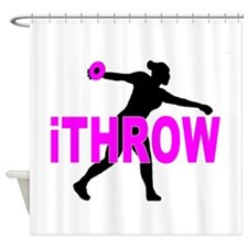 Pink Discus Shower Curtain
