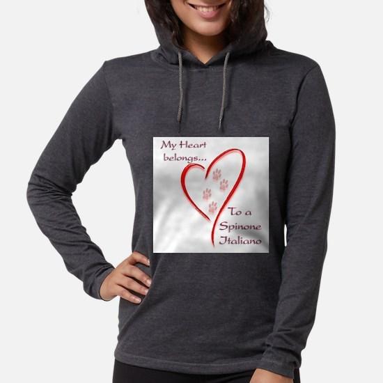 Spinone Heart Belongs Long Sleeve T-Shirt