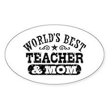 World's Best Teacher and Mom Decal