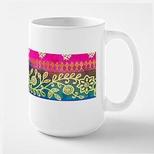 Pink Blue Sari Art Mugs