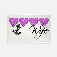 Navy Wife ver2 Rectangle Magnet