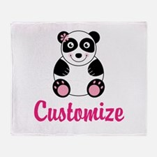 Custom Pink Panda Throw Blanket