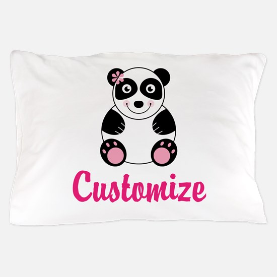 Custom Pink Panda Pillow Case