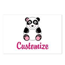Custom Pink Panda Postcards (Package of 8)