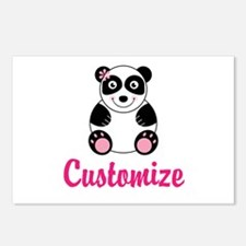 Custom Pink Panda Postcards (Package of 8)