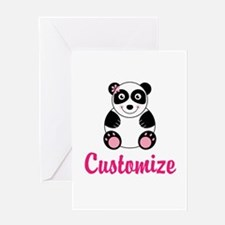 Custom Pink Panda Greeting Card