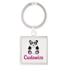 Cute Cute panda Square Keychain