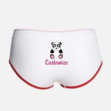 Custom Pink Panda Women's Boy Brief