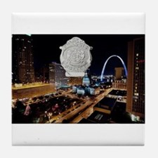 Cute Saint louis arch Tile Coaster