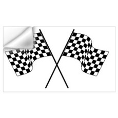 racing car flags Wall Decal
