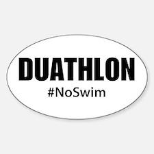 Duathlon No Swim Decal