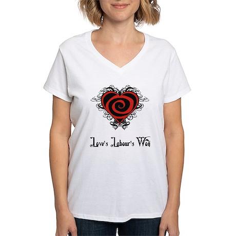 Love's Labour's Won Women's V-Neck T-Shirt