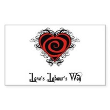 Love's Labour's Won Rectangle Decal