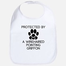 Protected By A Wirehaired Pointing Griffon Bib