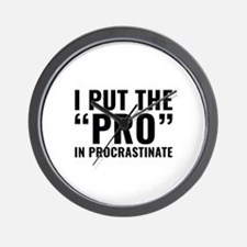 Pro In Procrastinate Wall Clock