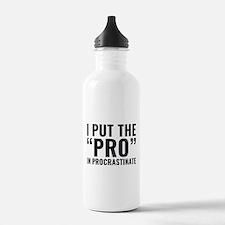 Pro In Procrastinate Water Bottle