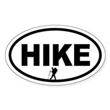 Hiker Oval Decal