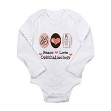 Cute Ophthalmology Long Sleeve Infant Bodysuit