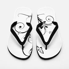 swirly butterflies.png Flip Flops