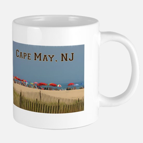 Cape May, NJ Beach Scene Mugs