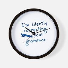 I'm Silently Correcting Your Grammar Wall Clock
