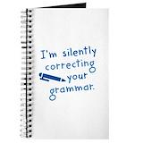Correcting your grammar Journals & Spiral Notebooks