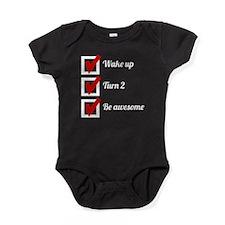 Awesome 2nd Birthday Checklist Baby Bodysuit