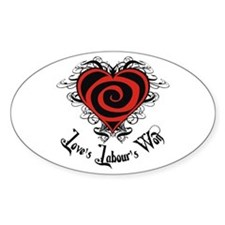 Love's Labour's Won Oval Decal
