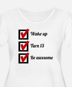 Awesome 13th Birthday Checklist Plus Size T-Shirt