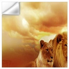 Africa Lion and Lioness Wall Decal
