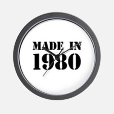 Made in 1980 Wall Clock