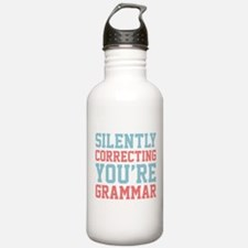 Silently Correcting You're Grammar Water Bottle
