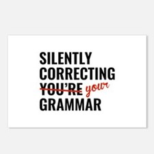 Silently Correcting You're Grammar Postcards (Pack
