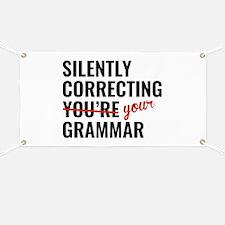 Silently Correcting You're Grammar Banner