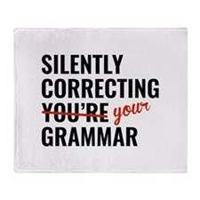 Silently Correcting You're Grammar Stadium Blanket
