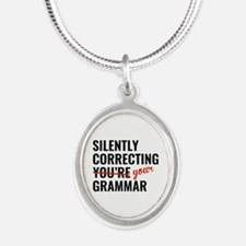 Silently Correcting You're Grammar Silver Oval Nec