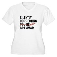 Silently Correcting You're Grammar T-Shirt