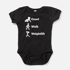 Crawl Walk Weightlift Baby Bodysuit