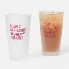 Silently Correcting You're Grammar Drinking Glass