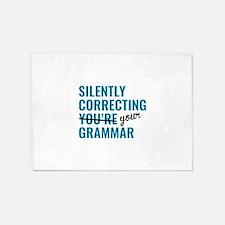 Silently Correcting You're Grammar 5'x7'Area Rug