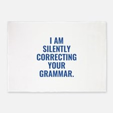 I Am Silently Correcting Your Grammar 5'x7'Area Ru
