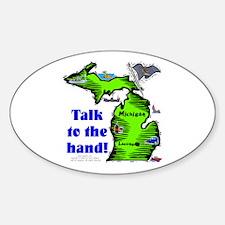 MI-Talk! Oval Decal