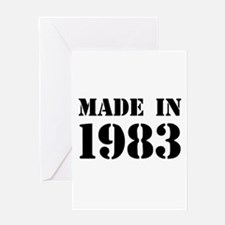 Made in 1983 Greeting Cards