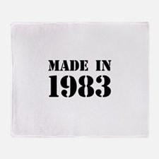 Made in 1983 Throw Blanket