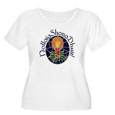 Christmas Stained Glass Plus Size Scoop Neck Shirt