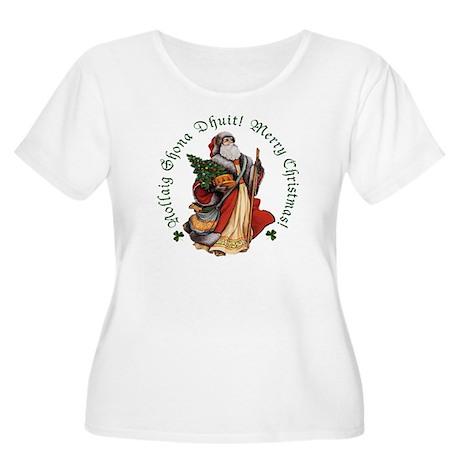Santa (Gaelic/English) Plus Size Scoop Neck Shirt