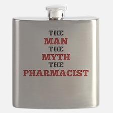 The Man The Myth The Pharmacist Flask