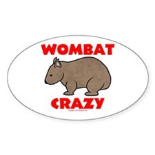 Wombat Crazy Oval Decal