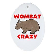 Wombat Crazy Oval Ornament
